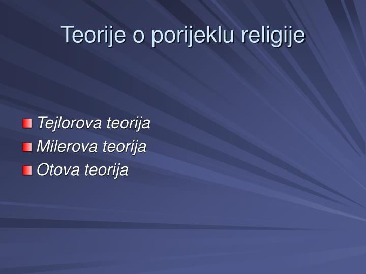Teorije o porijeklu religije