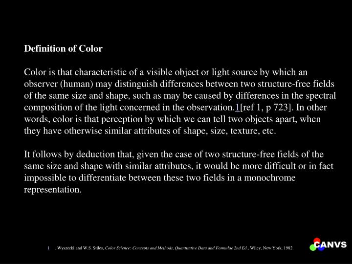 Definition of Color