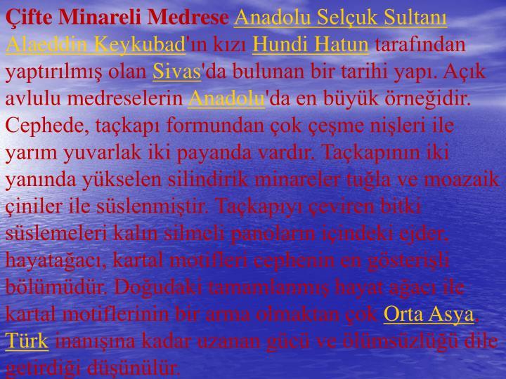 ifte Minareli Medrese