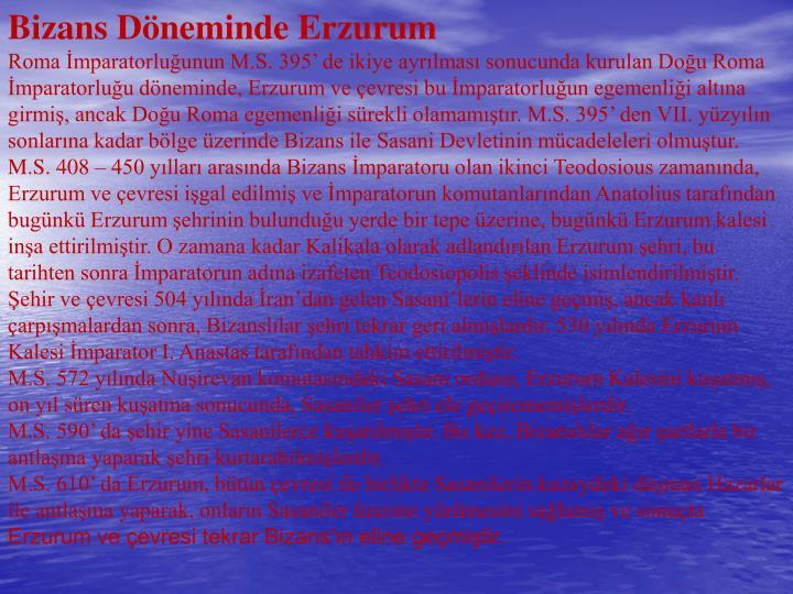 Bizans Döneminde Erzurum