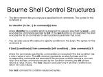 bourne shell control structures1