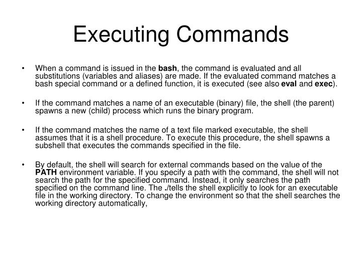 Executing Commands