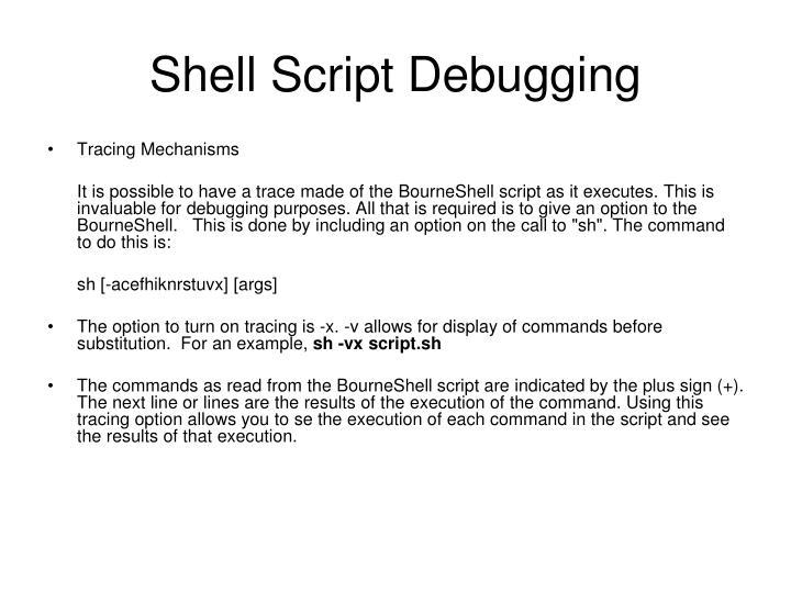 Shell Script Debugging