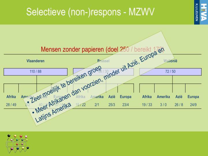 Selectieve (non-)respons - MZWV