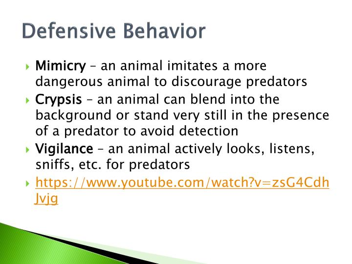 Defensive Behavior