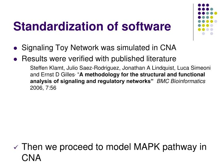 Standardization of software