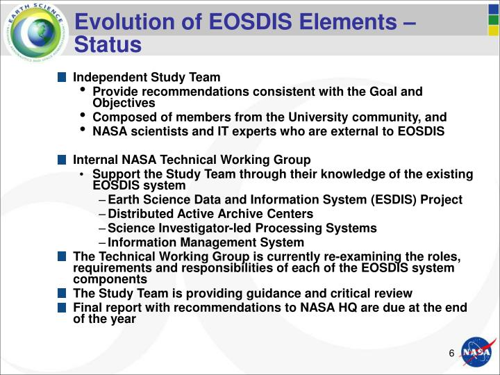 Evolution of EOSDIS Elements –