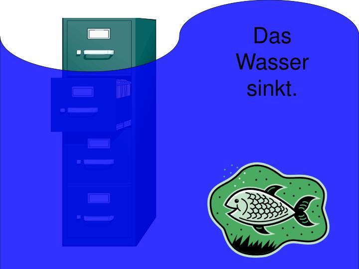 Das Wasser sinkt.