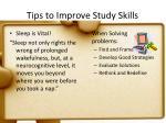 tips to improve study skills