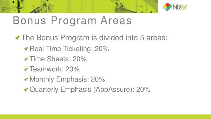 Bonus Program Areas