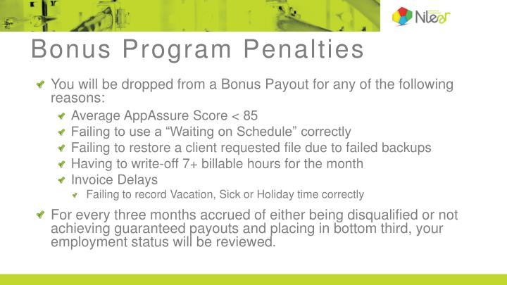 Bonus Program Penalties