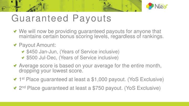 Guaranteed Payouts