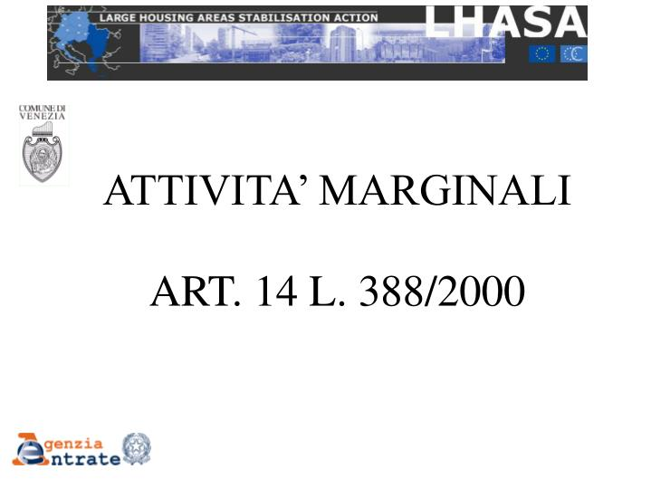 ATTIVITA' MARGINALI