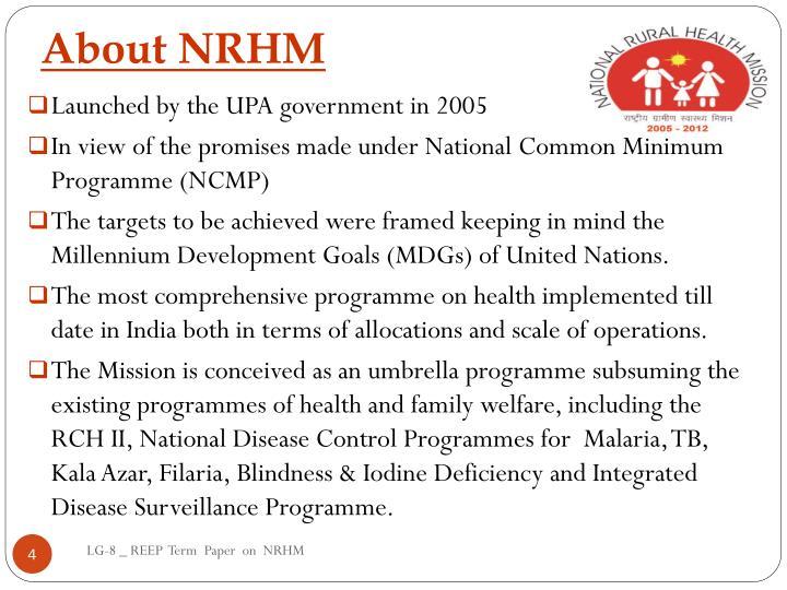 About NRHM
