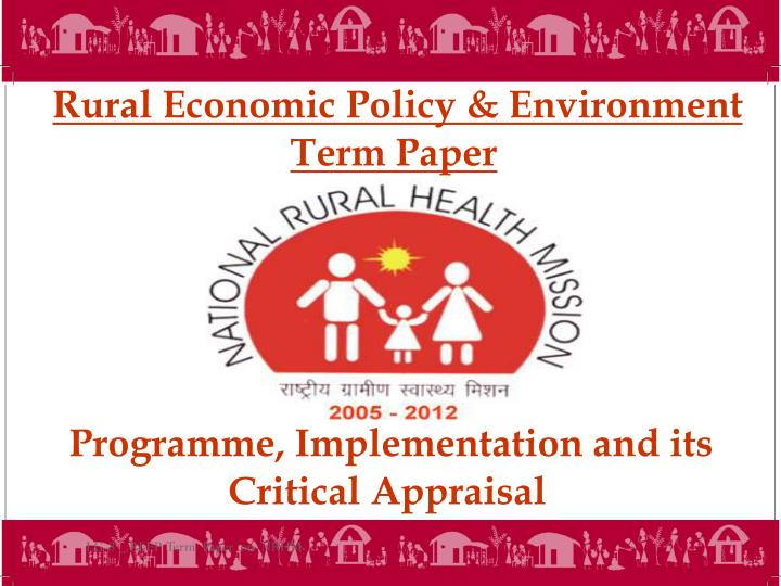 Rural Economic Policy &