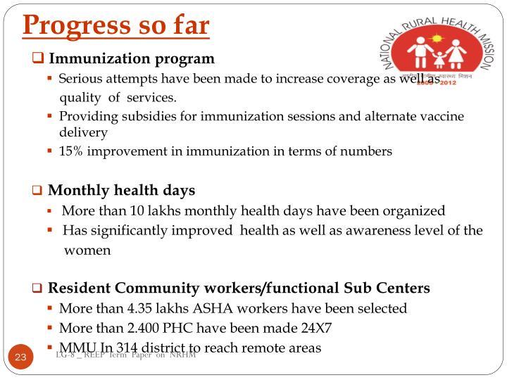 Immunization program