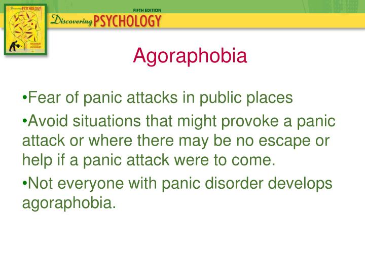 Fear of panic attacks in public places