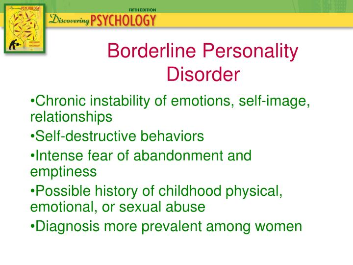 Chronic instability of emotions, self-image, relationships