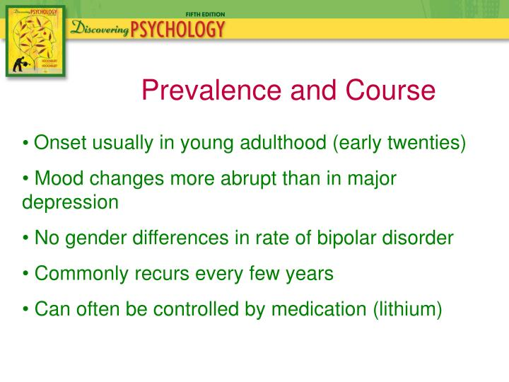 Prevalence and Course