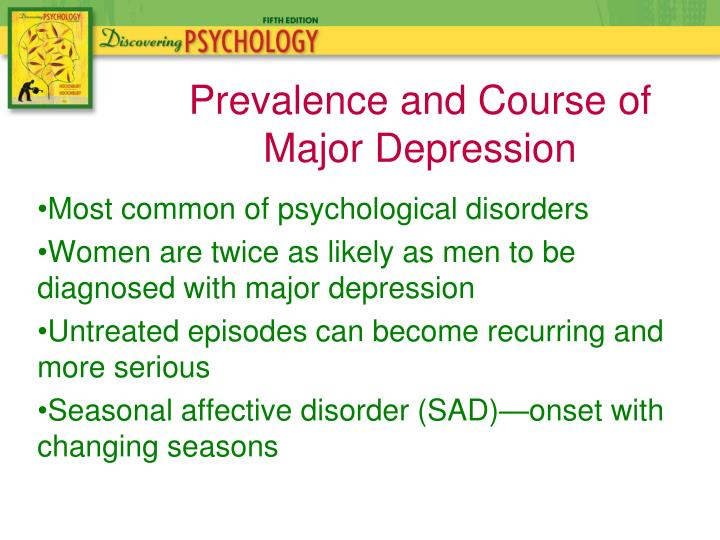 Most common of psychological disorders