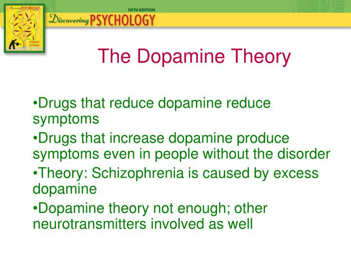 Drugs that reduce dopamine reduce symptoms