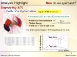 analysis highlight how do we approach1