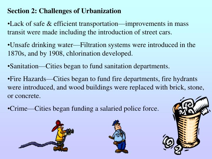 Section 2: Challenges of Urbanization