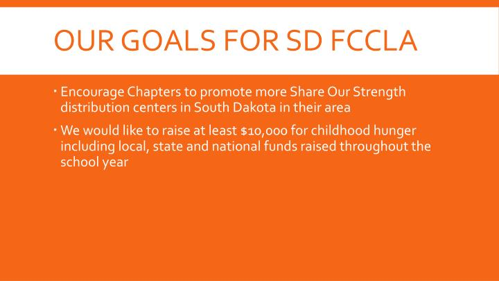 Our goals for SD FCCLA