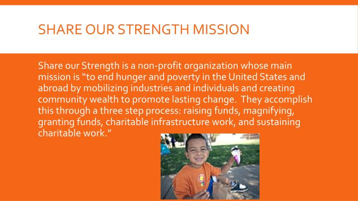 Share our strength mission