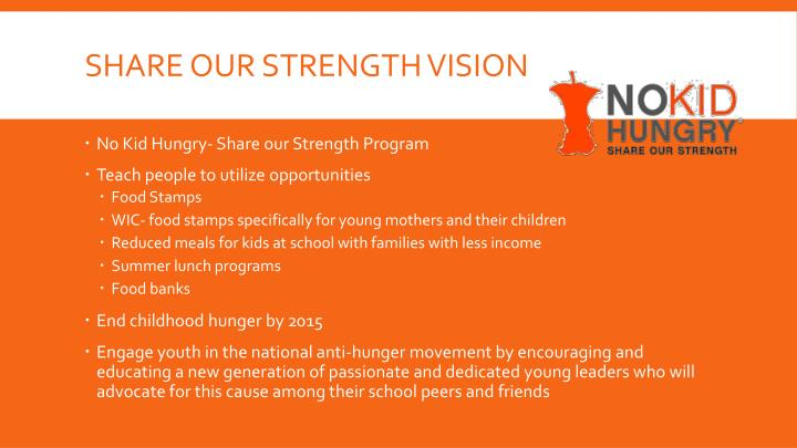 Share our strength vision