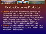 evaluaci n de los productos1