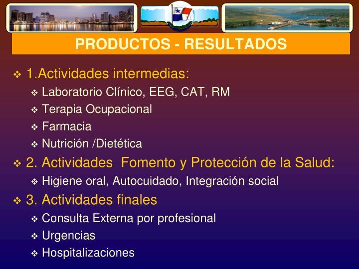 PRODUCTOS - RESULTADOS