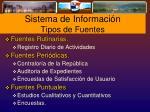 sistema de informaci n tipos de fuentes