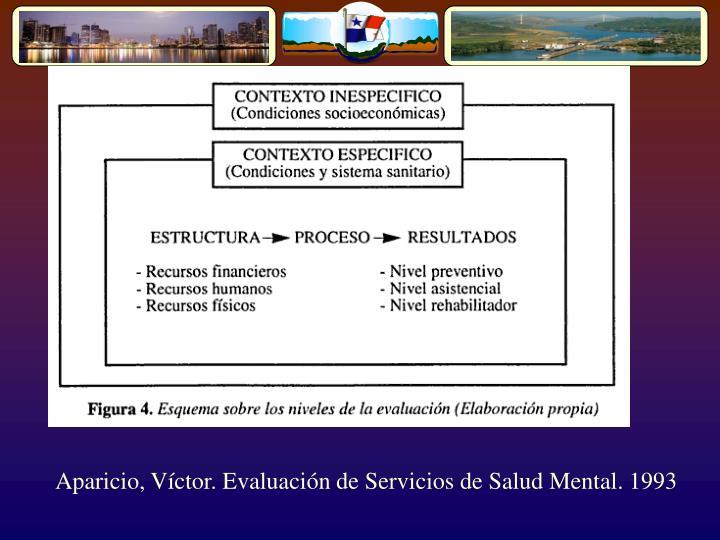 Aparicio, Víctor. Evaluación de Servicios de Salud Mental. 1993