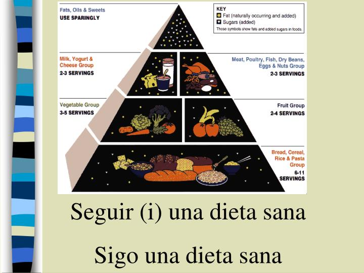 Seguir (i) una dieta sana