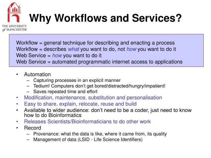 Why Workflows and Services?