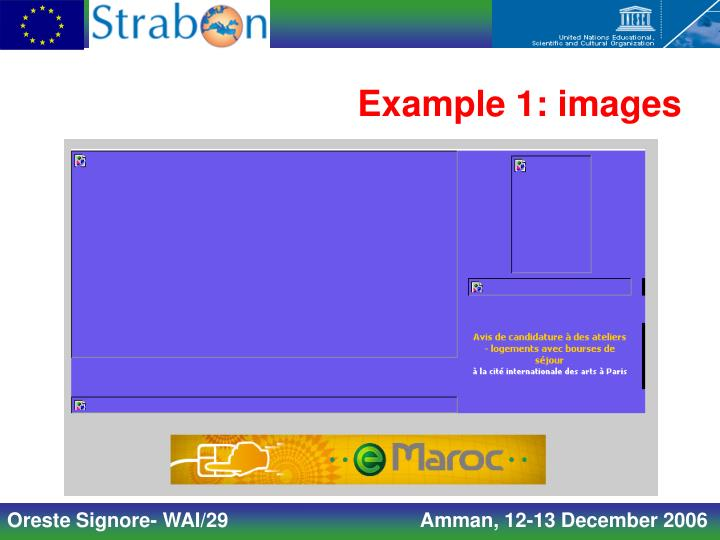 Example 1: images