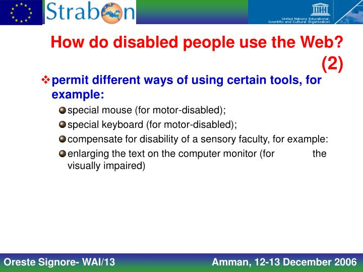 How do disabled people use the Web?