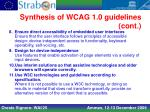 synthesis of wcag 1 0 guidelines cont1