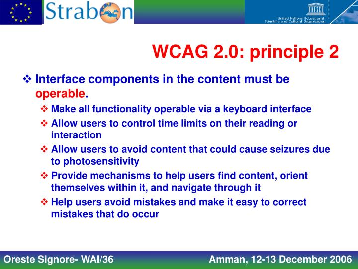 WCAG 2.0: principle 2