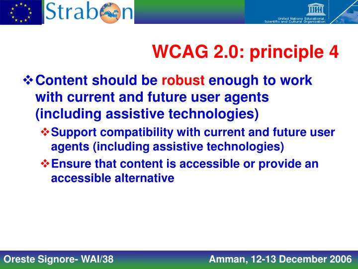 WCAG 2.0: principle 4
