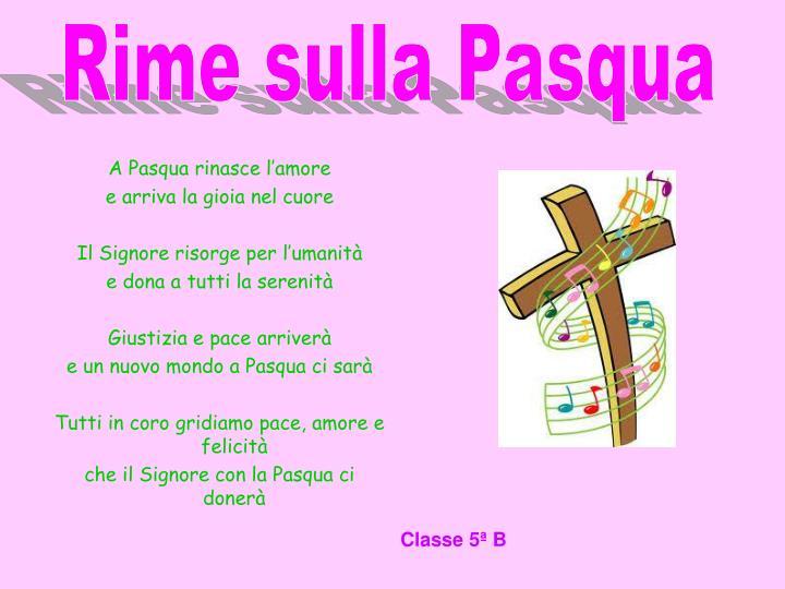 Rime sulla Pasqua