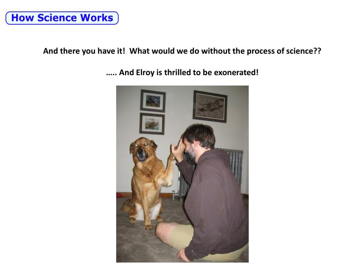 And there you have it!  What would we do without the process of science??