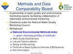methods and data comparability board