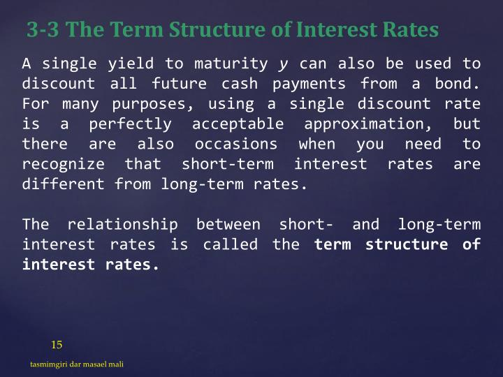 3-3 The Term Structure of Interest Rates