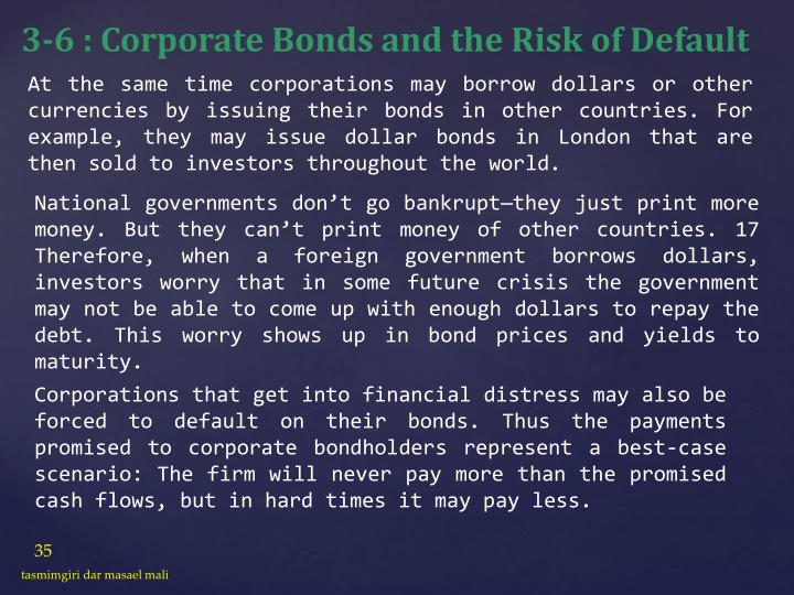 3-6 : Corporate Bonds and the Risk of Default
