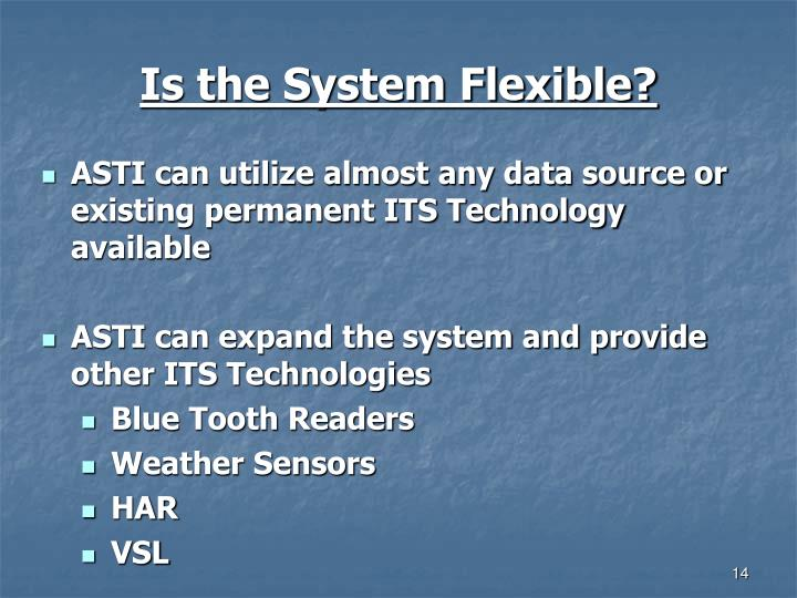 Is the System Flexible?
