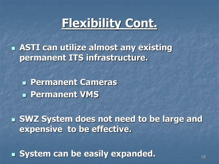 Flexibility Cont.