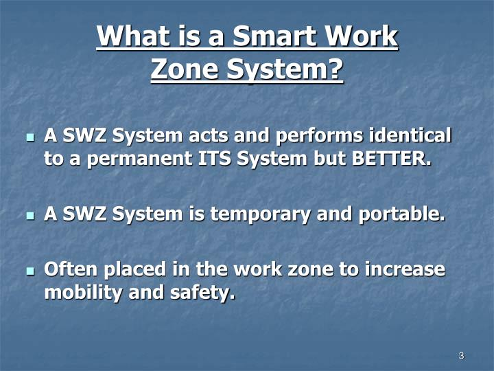 What is a Smart Work Zone System?