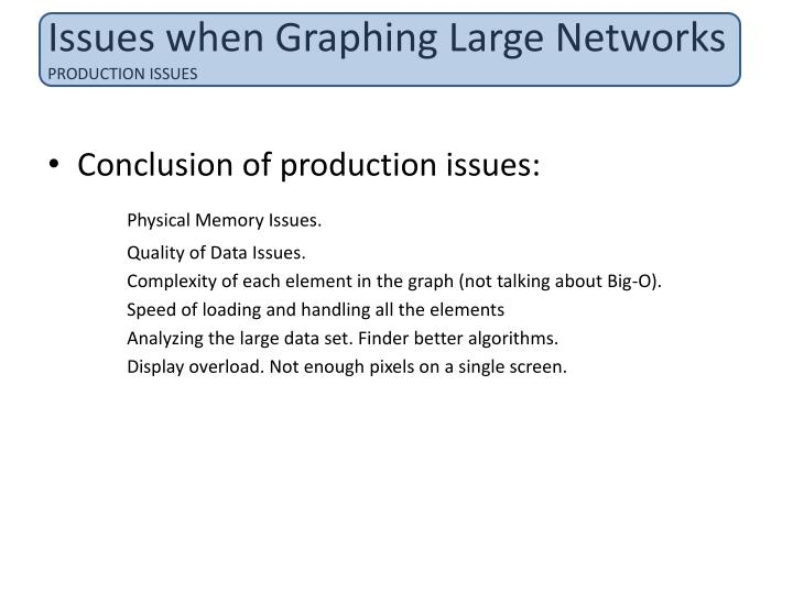 Issues when Graphing Large Networks